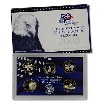 2000-S US Mint Quarters Proof Set