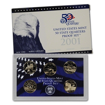 2001-S US Mint Quarters Proof Set