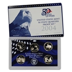 2004-S US Mint Quarters Proof Set