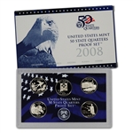 2008-S US Mint Quarters Proof Set