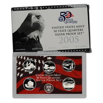 2005-S US Mint Quarters Silver Proof Set