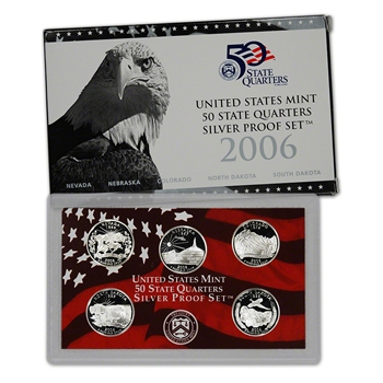2006-S US Mint Quarters Silver Proof Set