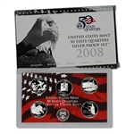 2008-S US Mint Quarters Silver Proof Set