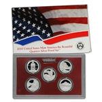 2010-S US Mint Quarters Silver Proof Set