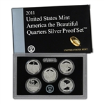 2011-S US Mint Quarters Silver Proof Set