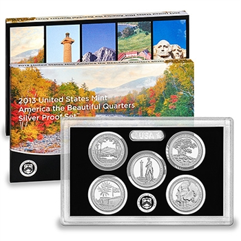 2013-S US Mint Quarters Silver Proof Set (SV9)