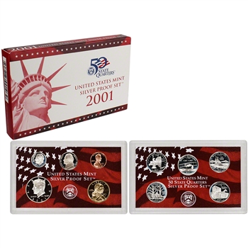 2001-S US Mint Silver Proof Set