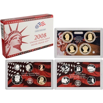 2008-S US Mint Silver Proof Set