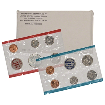 1968 US Mint Uncirculated Coin Set