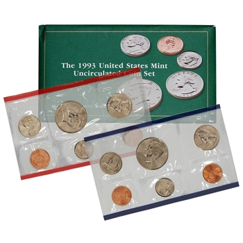 1993 United States Mint Uncirculated Coin Set (U93)