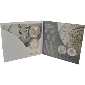 2014 US 50th Anniversary Kennedy Half-Dollar Uncirculated Coin Set