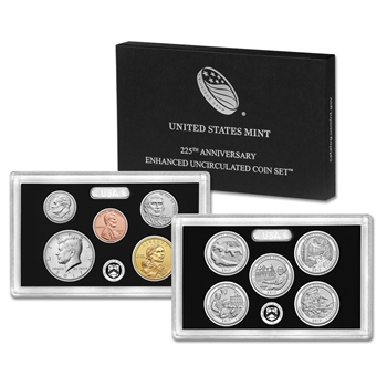 2017-S US Mint 225th Anniversary Enhanced Uncirculated Coin Set (17XC)