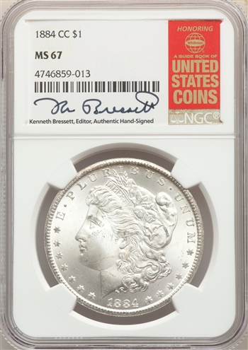 1884-CC US Morgan Silver Dollar $1 - NGC MS67