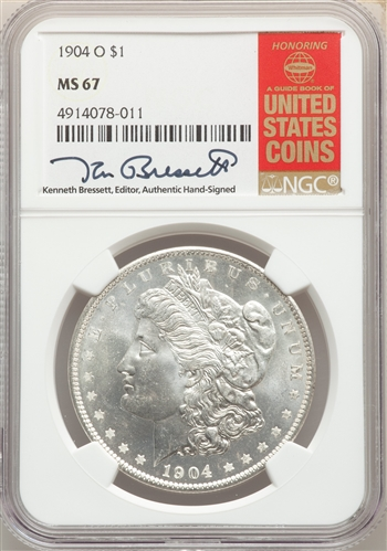 1904-O US Morgan Silver Dollar $1 - NGC MS67