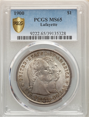 1900 US Silver $1 Commemorative Lafayette Dollar - PCGS MS65