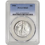 1944 US Walking Liberty Silver Half Dollar 50C - PCGS MS65