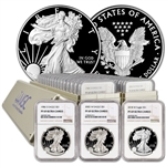 32-pc. 1986 - 2018 American Silver Eagle Proof Complete Date Set  NGC PF69 UCAM