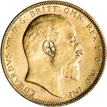 Australia Gold Perth P Sovereign .2354 oz - Edward VII XF-AU - Random Date