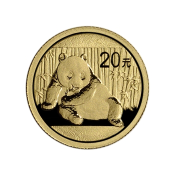 China Gold Panda 1/20 oz 20 Yuan - BU - Random Date