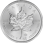 Canada Silver Maple Leaf - 1 oz - $5 - BU - Random Date