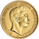 Germany Prussia Gold 10 Mark (.1152 oz) - Average Circulated - Random Date
