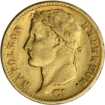 France Gold 20 Francs (.1867 oz) - Napoleon I - Avg Circ - Random Date