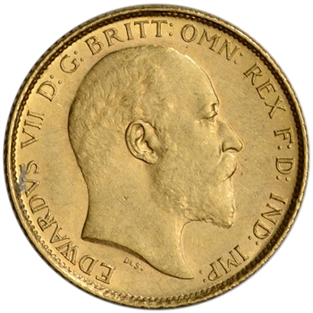 Great Britain Gold 1/2 Sovereign (.1177 oz) - King Edward - XF/AU - Random Date
