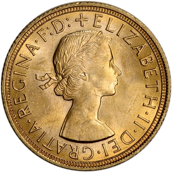Great Britain Gold Sovereign (.2354 oz) - Elizabeth II Laureate BU - Random Date