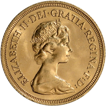 Great Britain Gold Sovereign (.2354 oz) - Elizabeth II Young BU - Random Date