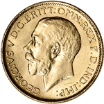 1918 India Gold Sovereign .2354 oz George V XF/AU