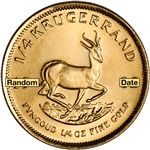South Africa Gold (1/4 oz) Krugerrand - BU - Random Date