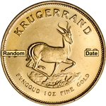 South Africa Gold (1 oz) Krugerrand - BU - Random Date