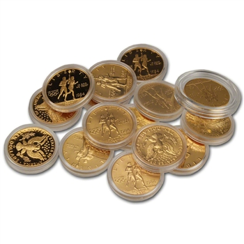 FIVE (5) US Gold $10 Commemorative Coins (.48375 oz) - Random Date