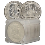 90% Silver Franklin Half Dollars - Brilliant Uncirculated - Roll of 20 $10 Face