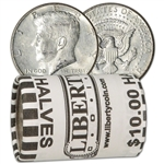 90% Silver 1964 Kennedy Half Dollars - Roll of 20 - $10 Face Value