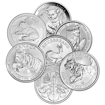1 oz Sovereign Silver Coin - Random Mint Secondary Market