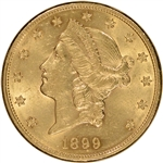 US Gold $20 Liberty Head Double Eagle - Almost Uncirculated - Random Date