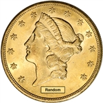 US Gold $20 Liberty Head Double Eagle - Brilliant Uncirculated - Random Date