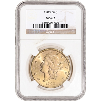 US Gold $20 Liberty Head Double Eagle - NGC MS62 - Random Date