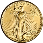 US Gold $20 Saint-Gaudens Double Eagle - Almost Uncirculated - Random Date