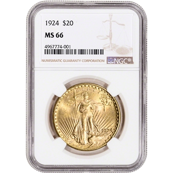 US Gold $20 Saint-Gaudens Double Eagle - NGC MS66 - Random Date