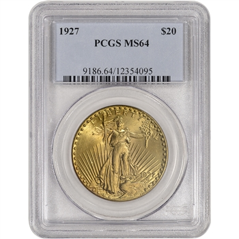 US Gold $20 Saint-Gaudens Double Eagle - PCGS MS64 - Random Date
