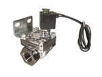 "Air Lift 24300 1/2"" Chrome 300 PSI Solenoid Valve with Bracket Universal"