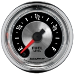 Auto Meter 1209 American Muscle 0 Ohms E - 280 Ohms F Programmable Fuel Level Gauge