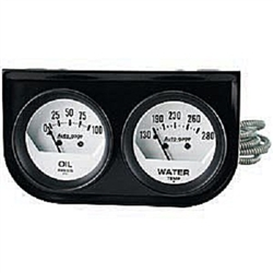 Auto Meter 2323 Auto Gauge Oil Pressure/Water Temperature Two Gauge Console