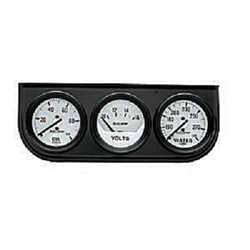 Auto Meter 2327 Auto Gauge Oil Pressure/Voltmeter/Water Temperature Three Gauge Console