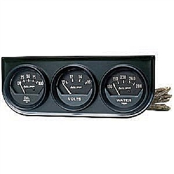 Auto Meter 2348 Auto Gauge Oil Pressure/Voltmeter/Water Temperature Three Gauge Console