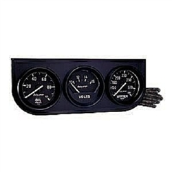 Auto Meter 2397 Auto Gauge Oil Pressure/Voltmeter/Water Temperature Three Gauge Console