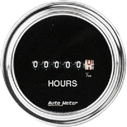 Auto Meter 2587 Traditional Chrome 8-32 Volts DC Input Hour Meter