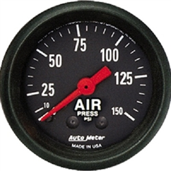 Auto Meter 2620 Z Series 0-150 PSI Air Pressure Gauge